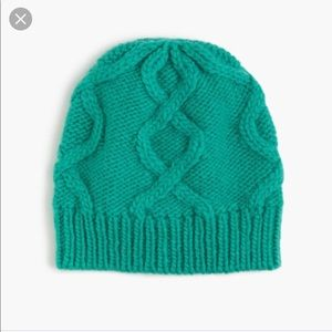 J.crew cable hat Italian wool,NWT, green